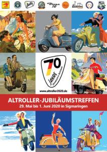 Flyer Altroller-Jubiläumstreffen 2020 Deutsch