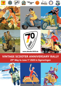 Flyer Vintage Scooter Anniversary Rally 2020 English